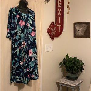 Old navy swing dress tropical flowy